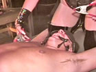 Dominant wife binds her sub husband`s cock and balls