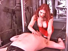 Latex Mistress` femdom games for Her male pet slave