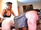 Mistresses preparing married couple for domination