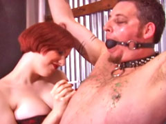 Serious examination for the male slave in bondage