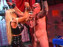 Smoking Mistress Whipping Slave�s Cock