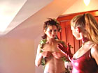 Three Dominas teach strapon wife to dominate her husband
